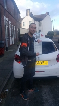 A big congratulations to Davin Ward, who has passed his driving test at Cobridge Driving Test Centre, with just 2 driver faults.<br />