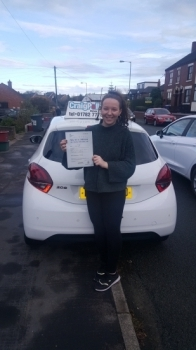 A big congratulations to Katie Figin, who has passed her driving test at Cobridge Driving Test Centre.<br />