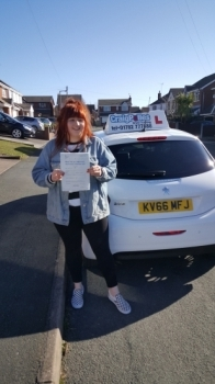 A big congratulations to Amy Worth, who has passed her driving test today at Cobridge Driving Test Centre, on her First attempt and with just 3 driver faults.<br />