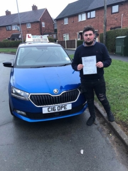 A big congratulations to Levi Sherwood, who has passed his driving test today at Cobridge Driving Test Centre.<br />