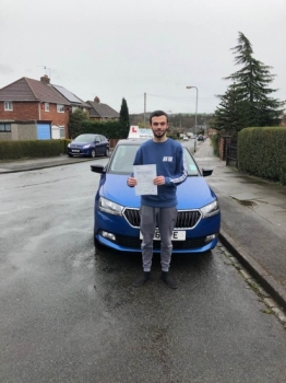 A big congratulations to Harry Fowell, who has passed his driving test at Cobridge Driving Test Centre, on his First attempt and with just 3 driver faults.<br />