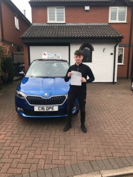 A big congratulations to Will Dykes, who has passed his driving test today at Cobridge Driving Test Centre, on his First attempt and with just 3 driver faults.<br />