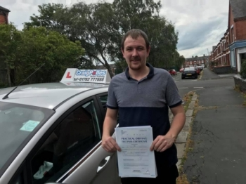 A big congratulations to a Jamie Bebbington, who has passed his driving test today at Crewe Driving Test Centre, at his First attempt and with just 4 driver faults.<br />