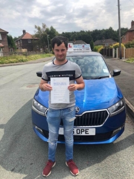 A big congratulations to Kris Greenwood, who has passed his driving test today at Cobridge Driving Test Centre, with just 4 driver faults.<br />