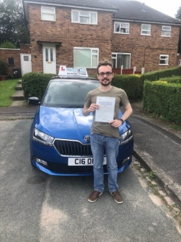 A big congratulations to Adam Darlington, who has passed his driving test today at Cobridge Driving Test Centre.<br />