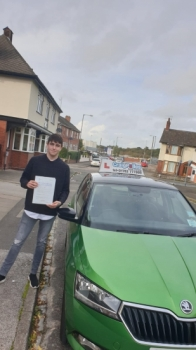 A big congratulations to Josh Tinsley, who has passed his driving test today at Cobridge Driving Test Centre, with just 4 driver faults.<br />