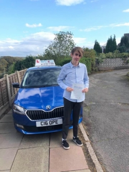 A big congratulations to Sian Johnson, who has passed his driving test today at Cobridge Driving Test Centre, at his First attempt with just 3 driver faults.<br />