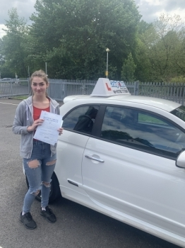 A big congratulations to Roisin Davis, who has passed her driving test at Newcastle Driving Test Centre, on her First attempt and with just 5 driver faults.<br />