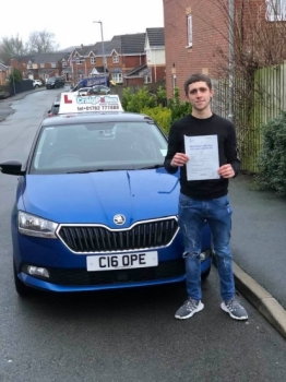 A big congratulations to Damian Metcalfe, who has passed his driving test today at Cobridge Driving Test Centre, at his First attempt.<br />