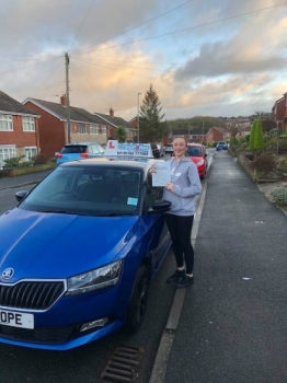 A big congratulations to Demi Ball, who has passed her driving test today at Cobridge Driving Test Centre, at her First attempt and with just 3 driver faults.<br />