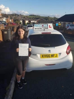 A big congratulations to Eloise Porter, who has passed her driving test today at Cobridge Driving Test Centre, with just 4 driver faults.<br />