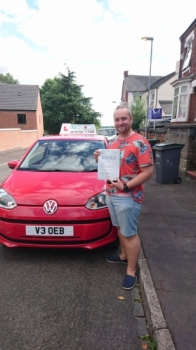 A big congratulations to Adam Allcock, who has passed his driving test toady at Newcastle Driving Test Centre,<br />