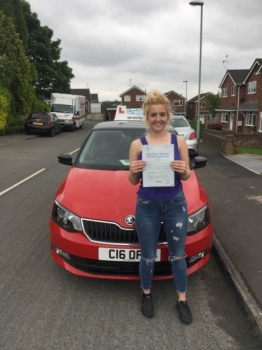 A big congratulations to Amelia Eardley Amelia passed her driving test today at Cobridge Driving Test Centre first time and with just 1 driver fault<br />