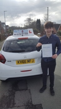 A big congratulations to Andrew Burgess, who has passed his driving test at Cobridge Driving Test Centre, at his First attempt and with just 3 driver faults.<br />