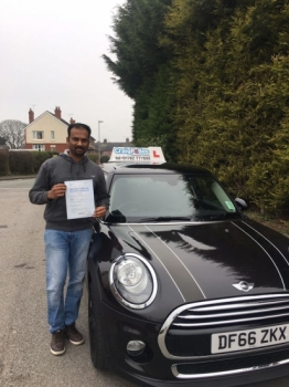 A big congratulations to Anil Anil passed his<br />