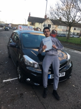 A big congratulations to Asam Iqbal, who has passed his driving test at Cobridge Driving Test Centre, at his First attempt and with just 2 driver faults.<br />