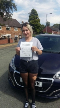 A big congratulations to Bergan Kolukisa, who has passed her driving test today at Newcastle Driving Test Centre.<br />