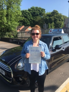 A big congratulations to Bethany Clough Beth passed her driving test at Newcastle Driving Test Centre with just 3 driver faults <br />