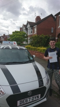 A big congratulations to Billy McConnell, who has passed his driving test at Crewe Driving Test Centre.<br />