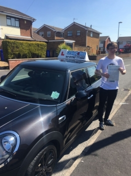 A big congratulations to Callum Hulme Callum passed his driving test at Cobridge Driving Test Centre with just 3 driver faults <br />