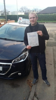 A big congratulations to Carl Myatt, who passed his driving test today at Newcastle Driving Test Centre, with just 2 driver faults.<br />