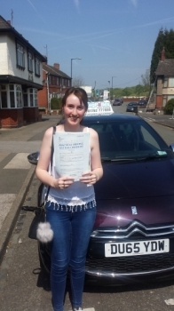 A big congratulations to Charlotte Birks Charlotte passed her driving test today at Cobridge Driving Test Centre first time and with just 5 driver faults <br />