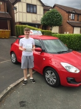 A big congratulations to Cory Vincent, who has passed his driving test today at Cobridge Driving Test Centre, at his First attempt and with just 2 driver faults.<br />
