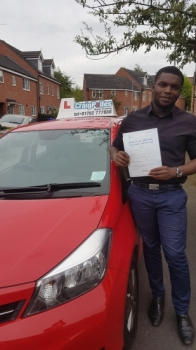 A big congratulations to Connor Henry-Blake, who has passed his driving test today at Newcastle Driving Test Centre.<br />