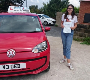 A big congratulations to a Sophie Julian, who has passed her driving test today at Newcastle Driving Test Centre, at her First attempt and with just 3 driver faults.<br />