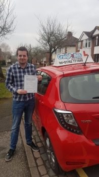 A big congratulations to Daniel Ratcliffe, who has passed his driving test today at Newcastle Driving Test Centre, at his First attempt and with just 1 driver fault.<br />