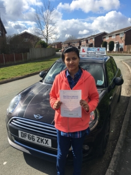 A big congratulations to Deepa Devassy, who has passed her driving test today at Buxton Driving Test Centre, with just 2 driver faults.<br />