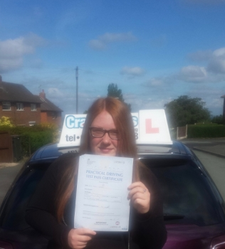 A big congratulations to Demi Walker Demi passed her driving test at Cobridge Driving Test Centre with just 5 driver faults <br />