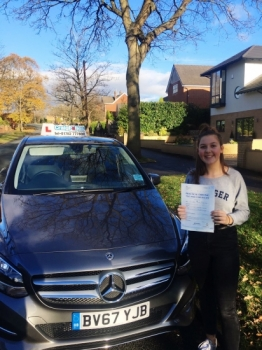 A big congratulations to Ella Phoenix, who has passed her driving test today at Newcastle Driving Test Centre, at her First attempt and with just 3 driver faults.<br />