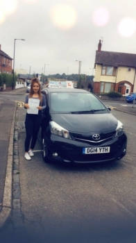 A big congratulations to Emily Prince, who has passed her driving test today at Cobridge Driving Test Centre.<br />