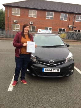 A big congratulations to Haley Scott Haley passed her driving test today at Newcastle Driving Test Centre first time and with just 3 driver faults <br />
