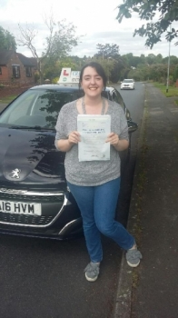A big congratulations to Hannah Bailey Hannah passed her driving test at Newcastle Driving Test Centre with just 4 driver faults<br />