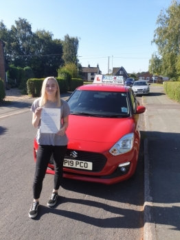 A big congratulations to Lotte Hollins, who has passed her driving test today at Cobridge Driving Test Centre, with just 5 driver faults.<br />