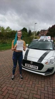 A big congratulations to Sophie Tomkinson, who has passed her driving test today at Crewe Driving Test Centre.<br />