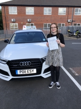 A big congratulations to Beth Mountford, who has passed her driving test today at Newcastle Driving Test Centre.<br />