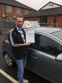 A big congratulations to Darran Vickery, who has passed his driving test today at Newcastle Driving Test Centre, on his First attempt and with just 5 driver faults.<br />