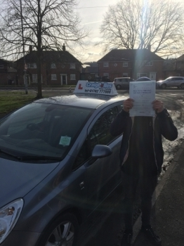 A big congratulations to Ben Creasy, who has passed his driving test today at Cobridge Driving Test Centre, on his First attempt and with just 3 driver faults.<br />