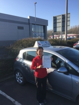 A big congratulations to Jhelene Goodfellow, who has passed her driving test today at Cobridge Driving Test Centre.<br />