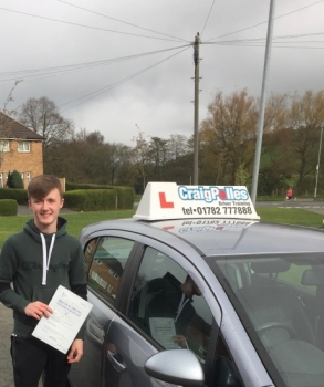 A big congratulations to Jake Peake, who has passed his driving test today at Cobridge Driving Test Centre, on his First attempt and with just 4 driver faults.<br />