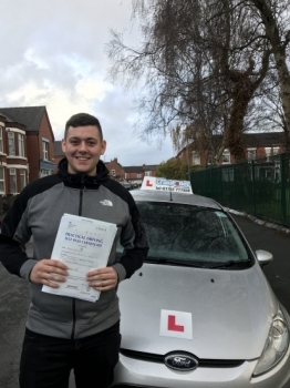 A big congratulations to Anthony Owens, who has passed his driving test today at Crewe Driving Test Centre.<br />