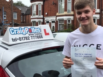 A big congratulations to Joe, who has passed his driving test at Crewe Driving Test Centre with just 1 driver fault.<br />
