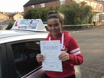 A big congratulations to Leanne, who has passed her driving test today at Crewe Driving Test Centre, with just 3 driver faults.<br />