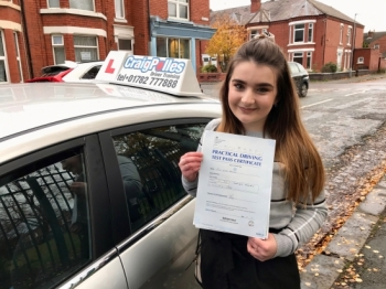 A big congratulations to Alice, who has passed her driving test today at Crewe Driving Test Centre.<br />