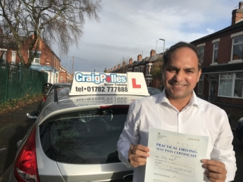 A big congratulations to Keshav, who has passed his driving test today, at Crewe Driving Test Centre with just 5 driver faults.<br />