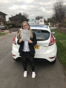 A big congratulations to Isabel Gallimore Isabel passed her driving test today at Newcastle Driving Test Centre first time and with just 2 driver faults<br />