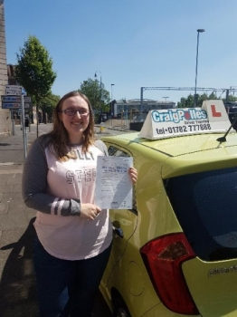 A big congratulations to Isobelle Webster Isabelle passed her driving test at Cobridge Driving Test Centre <br />